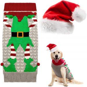Costumi Natalizi per Cani Maglioni Pullover Caldi per Cani