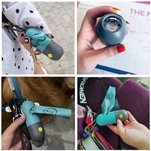 Dispenser di sacchetti per escrementi cani con luce flash a LED