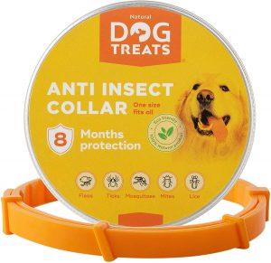 Natural Dog Treats Collare Antipulci e Zecche per Cani